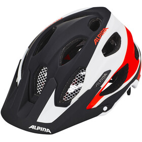 Alpina Carapax Helmet black-white-neon red